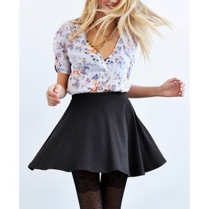 Urban Outfitters kimchi blue black circle skirt